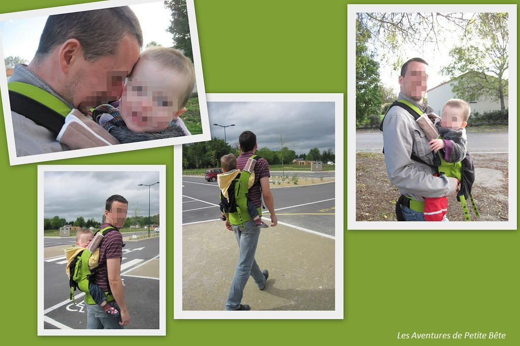 Martin en Ergobaby avec papa