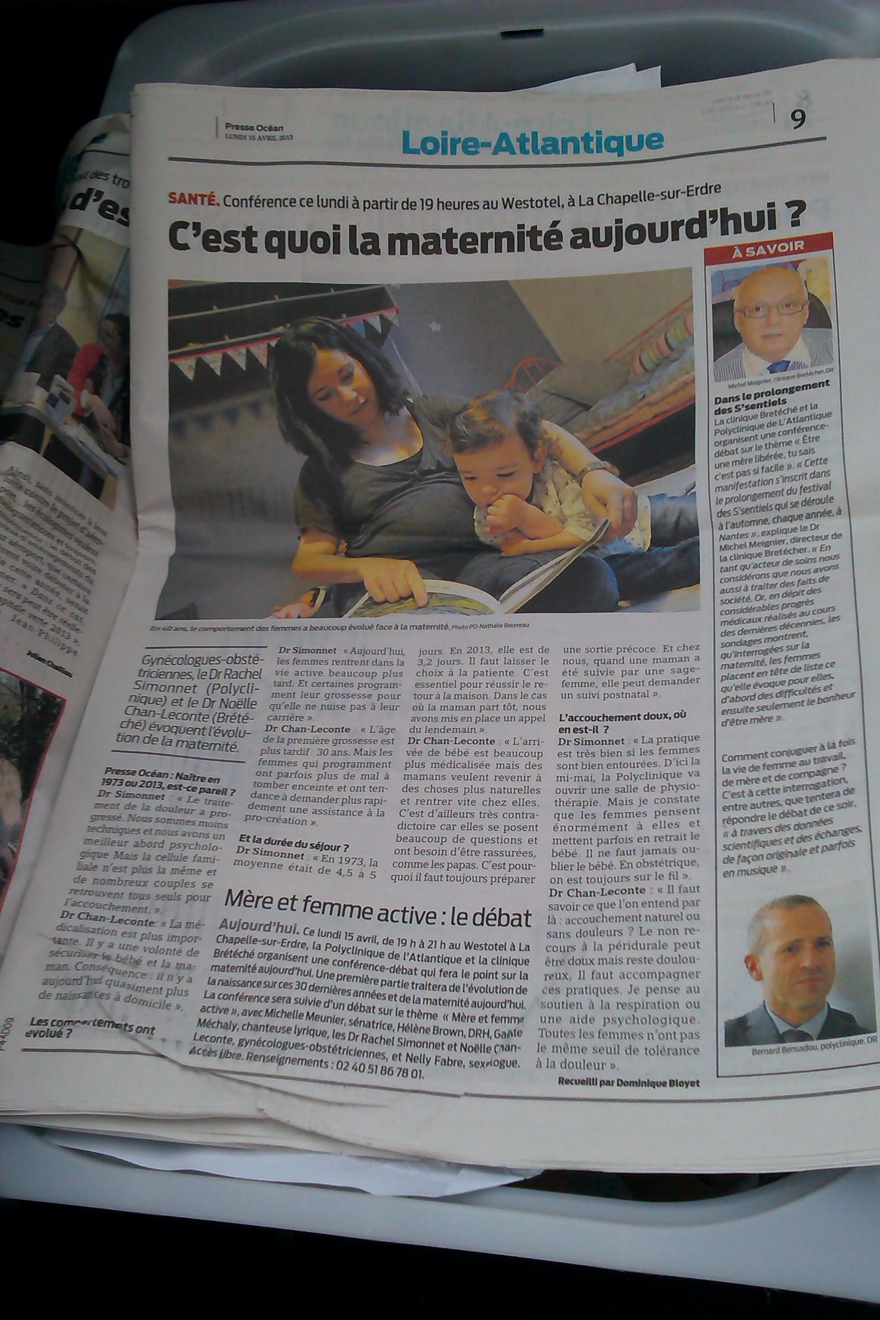 Article de présentation du Presse Océan